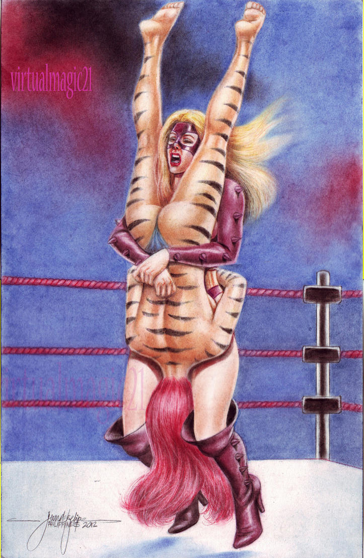 TIGRA vs TITANIA WRESTLING by JUN DE FELIPE #02 by rodelsm21