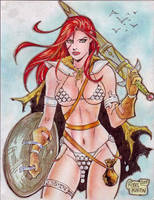RED SONJA by RODEL MARTIN (01042014A) by rodelsm21