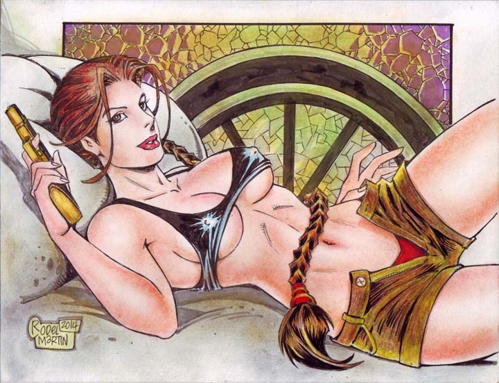 LARA CROFT art by RODEL MARTIN (04072014) by rodelsm21