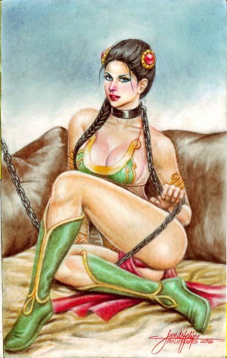 SLAVE PRINCESS LEIA by JUN DE FELIPE  (03062016) by rodelsm21