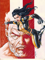 X-23 AND OLD LOGAN by NOORA (05092018) by rodelsm21