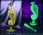 Vaseline Glass Perfume Bottle