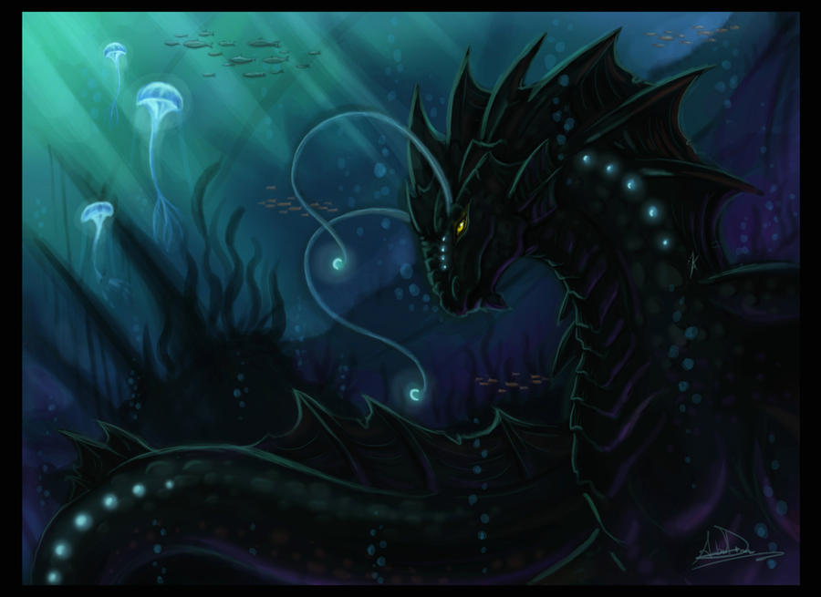 Sea dragon thing by Kiartia on DeviantArt