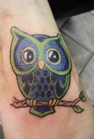 owl tattoo by Kiartia