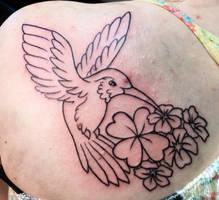 humming bird tattoo by Kiartia