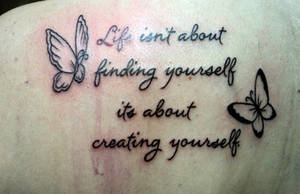 quote butterflies tattoo
