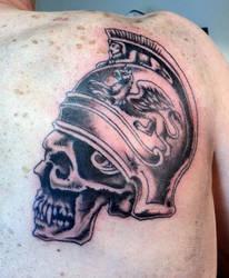 Centurion skull tattoo