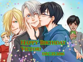 Yuri!!!On Ice - Happy Birthday Victor! by Marimari999