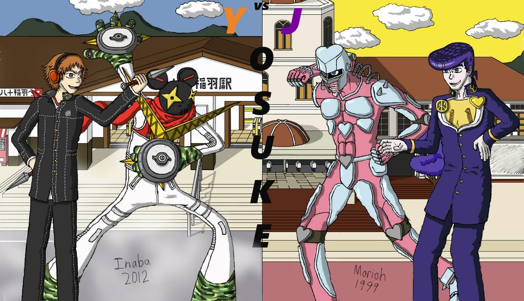 Yosuke vs. Josuke by AnonEars