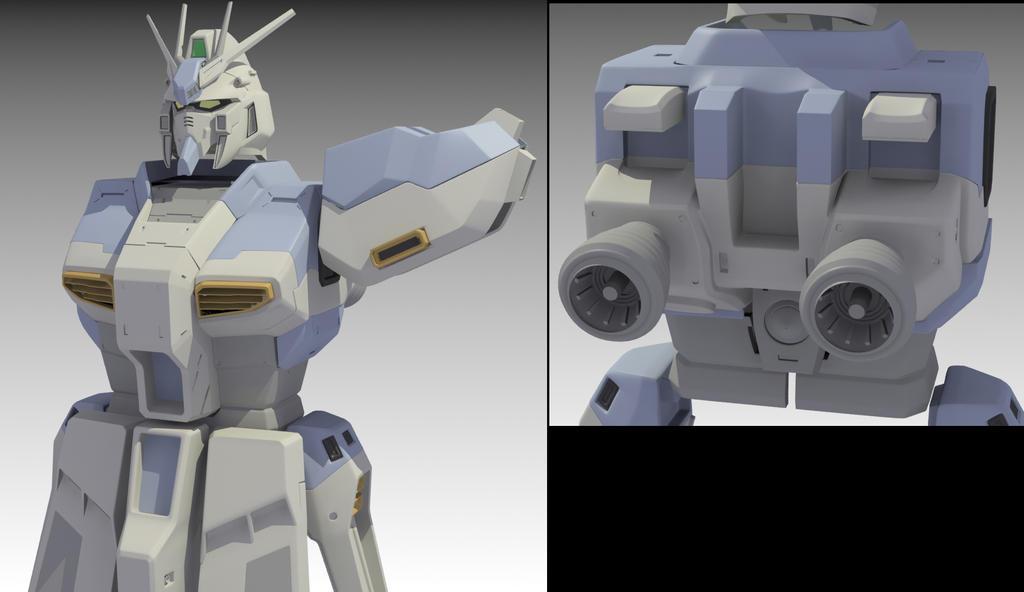 Gundam WIP by stefanogesh
