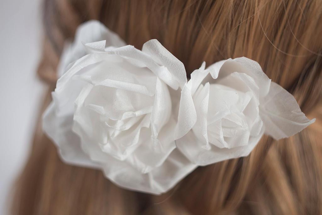 White rose hairpin 13 by TaliaKart