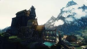 Whiterun and Jorrvaskr by Creathor4005