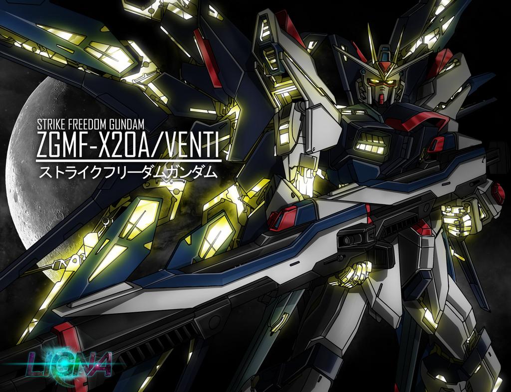 Strike Freedom Gundam (rebuild gold 24k) by HOLOCGRAM