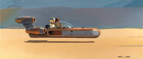 Star Wars - Landspeeder by jilub