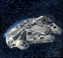 Star Wars Millenium Falcon by jilub