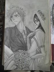 ichigo and rukia by TheManSkar