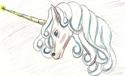 Unicorn Pen Sketch by manipfreak92