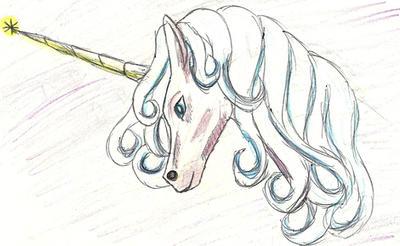 Unicorn Pen Sketch by manipfreak92