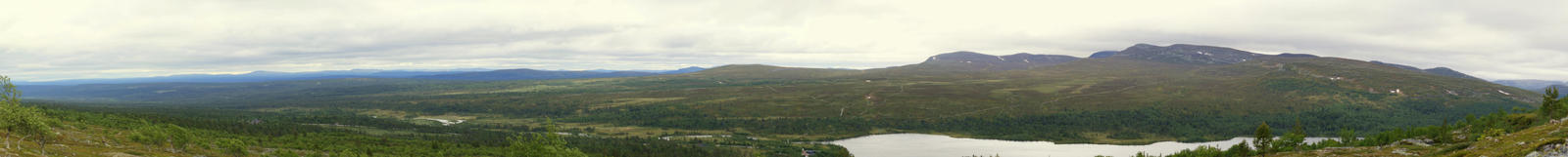 Panorama from Grovelsjofjallet by fastidious-cat