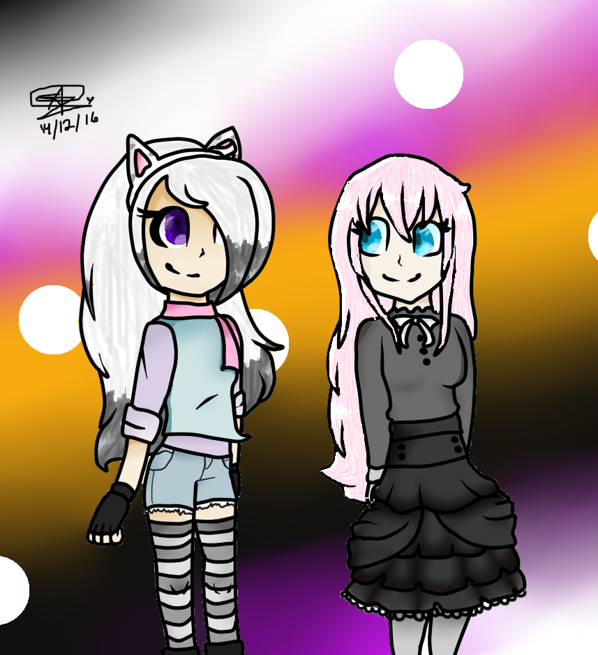 Katylin and Annie by Lissany626
