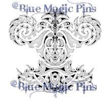 Full symmetrical maori tattoo by anchica