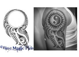 Cover circular tattoo maori by anchica
