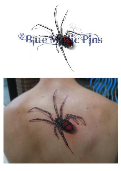 black widow spider tattoo. spider tattoos. Black Widow