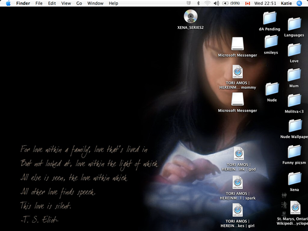 My desktop at the moment by OceanSoulGirl