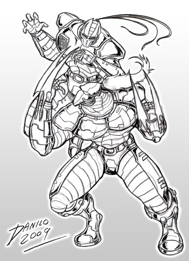Mortal Kombat Raiden Drawings Fulgore vs Cyrax linea...