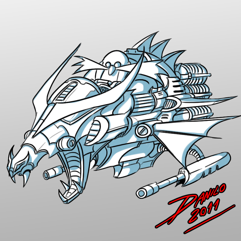 Robotnik Dragon Ship by TheInsaneDarkOne
