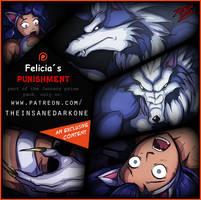 Patreon U$ 50 prize preview - Felicia Punishment by TheInsaneDarkOne