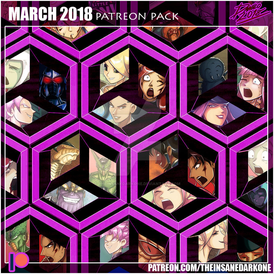 Patreon March 2018 art pack now available! by TheInsaneDarkOne
