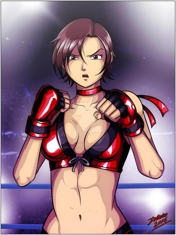 [Past] Reiko fighting pose by TheInsaneDarkOne
