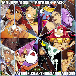 January 2019 Patreon pack now available! by TheInsaneDarkOne