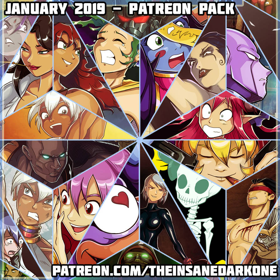 January 2019 patreon pack now available by theinsanedarkone