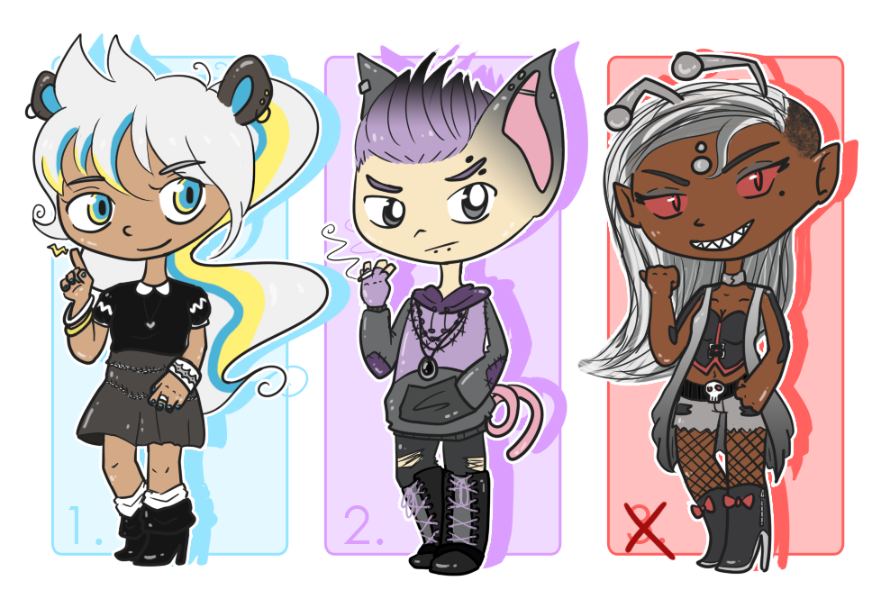 PKMN Gijinka Auction Adopts [1/3 OPEN] by SacredLugia