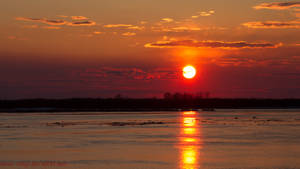 Sunset over the Amur River