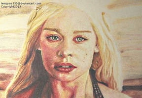 Mother Of Dragons   Colored Pencil