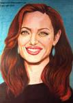 Angelina Jolie                       Mixed media