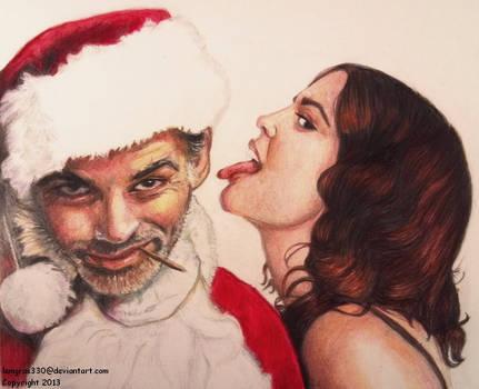 Bad Santa  ~ Colored Pencil