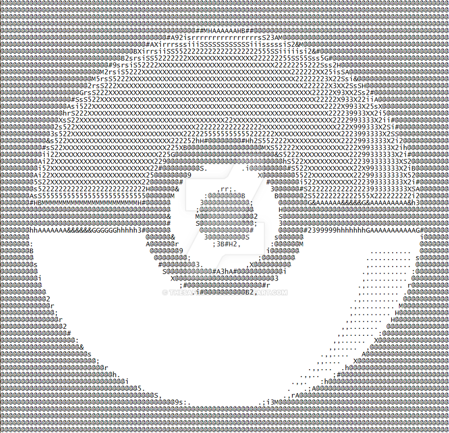 Ascii art 1: Pokeball by TheSafeGlitch on DeviantArt