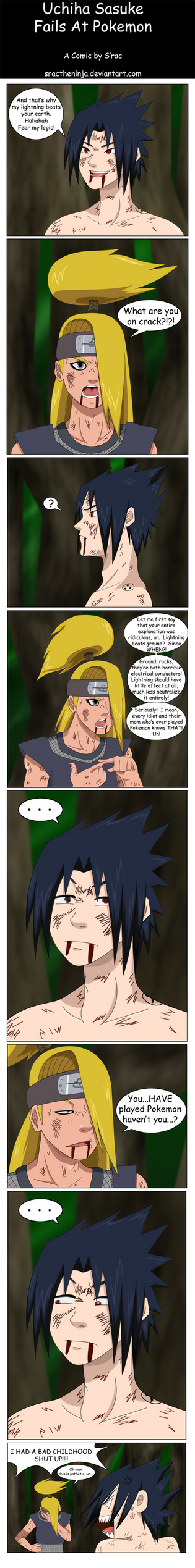 Naruto:Sasuke Fails At Pokemon by SractheNinja