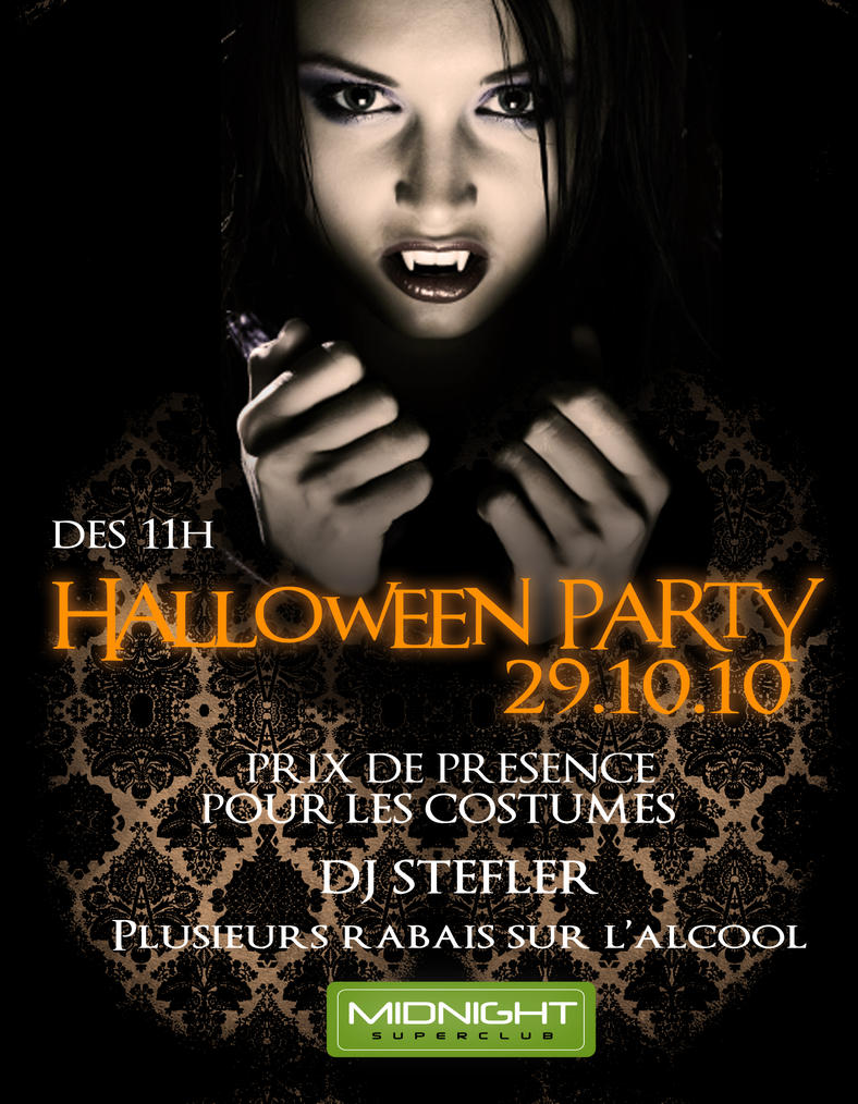 halloween party flyer by evelefebvre on DeviantArt – Halloween Party Flyer