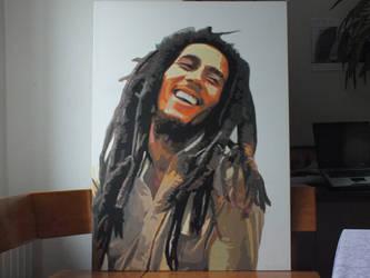 Bob marley Oil painting