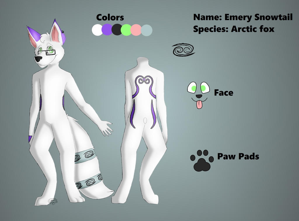 Emery Snowtail ref by EmerySnowtail