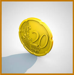 3D Euro Cent by Bhaijaan
