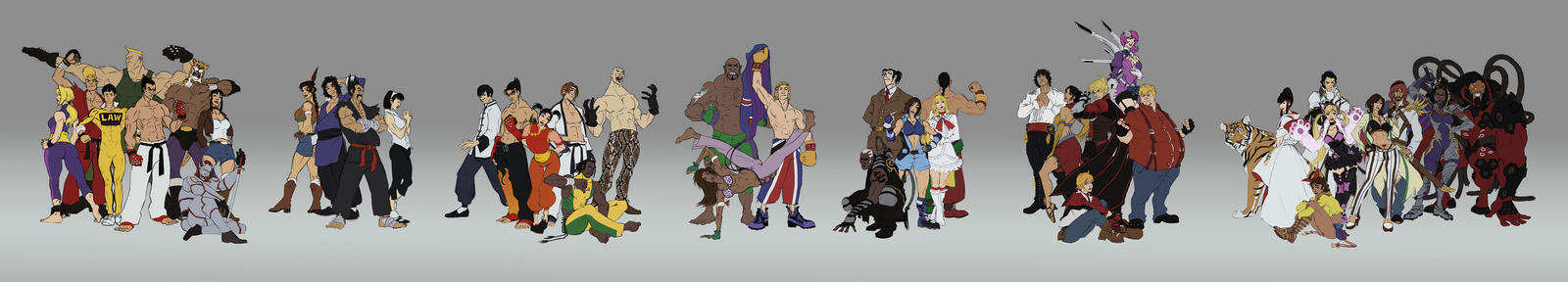 Tekken - Cast by 1981kuro
