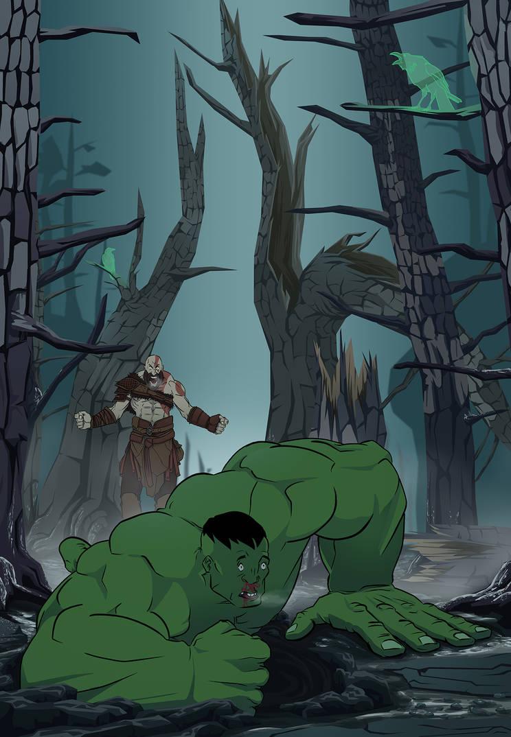 Kratos: God of Hulk by 1981kuro
