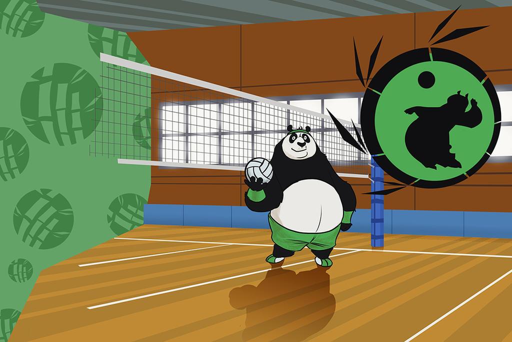 Volley Panda by 1981kuro