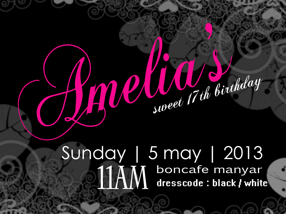 Sweet 17 party lunch invitation by avilaavee on deviantart sweet 17 party lunch invitation by avilaavee stopboris Images